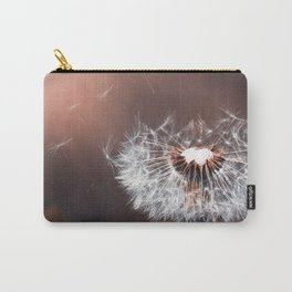 Dandelion Flower Nature Close Carry-All Pouch