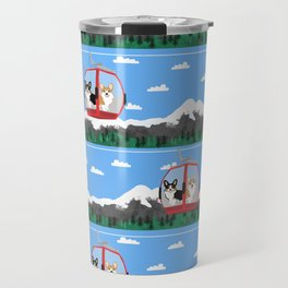 Gondola corgis telluride ski slopes custom dog Travel Mug