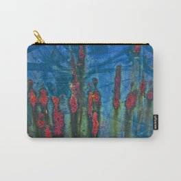 Red On Blue Carry-All Pouch