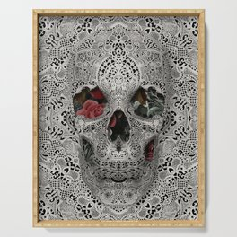 Lace Skull 2 Serving Tray