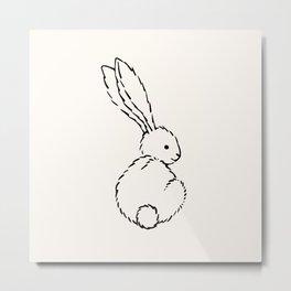 Bunny Nursery Art Prints, Baby Nursery Decor Metal Print