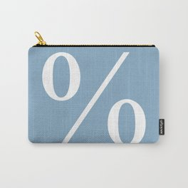 percent sign on placid blue color background Carry-All Pouch
