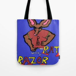 Rat with a Razor Tote Bag