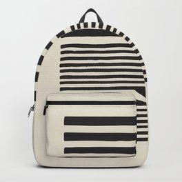 grey geometric print, Minimalist print, scandi print, geometric wall art, minimalist art, mid centur Backpack