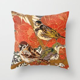Morning Peonies Throw Pillow