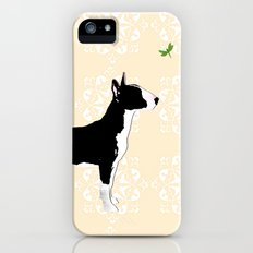 English Bull Terrier in black iPhone (5, 5s) Slim Case