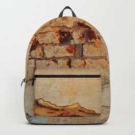 Stone wall Abstrackt hole Backpack