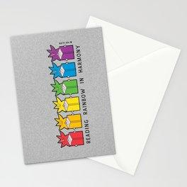Reading Rainbow in Harmony Stationery Cards