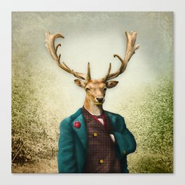 Lord Staghorne in the wood Canvas Print