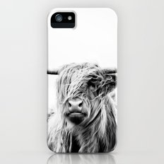 portrait of a highland cow iPhone (5, 5s) Slim Case