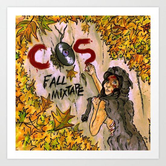 """Fall Mixtape"" by Cap Blackard Art Print"
