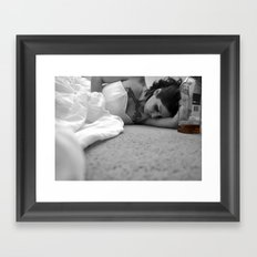 Bride on fire Framed Art Print