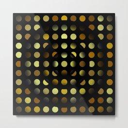 Golden moons dark circles Metal Print