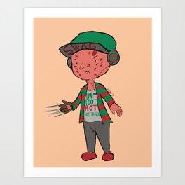 Horror Hipsters - Freddy Krueger Art Print