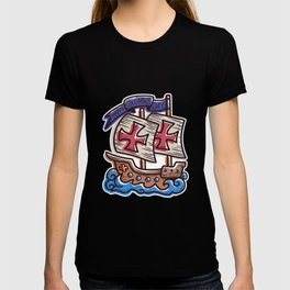 Christopher Columbus Day Sailboat Gift T-shirt