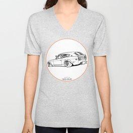 Crazy Car Art 0225 Unisex V-Neck
