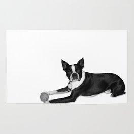 Fetch Boston Terrier B/W Rug