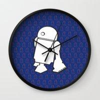 starwars Wall Clocks featuring STARWARS R2D2 by Imog3n