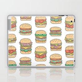 Hamburgers Junk Food Fast food on White Laptop & iPad Skin