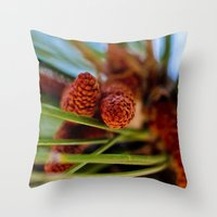 rustic Throw Pillows featuring Rustic by Nicole Dupee