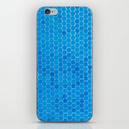 Turquoise Blue Sequins iPhone Skin
