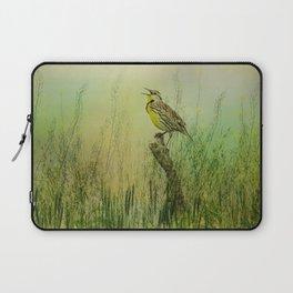The Meadow Lark Sings Laptop Sleeve