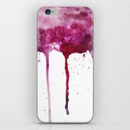 SCARLET ROSE GALAXY SPLASH iPhone Skin