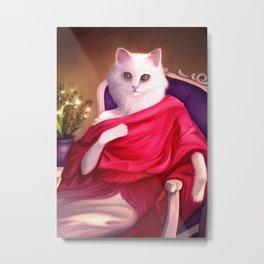 Feline lady Metal Print