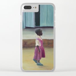 African Girl Clear iPhone Case