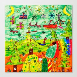 Christmas Village | Painting by Elisavet Canvas Print