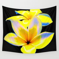 bow Wall Tapestries featuring Flower Bow by Christa Bethune Smith