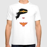 Wonder Girl White SMALL Mens Fitted Tee