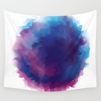 watercolour Wall Tapestries featuring watercolour by HelloDarlingDesign