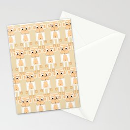 Super cute animals - Cheeky White Monkey Stationery Cards