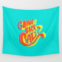 biggie Wall Tapestries featuring Going Back to Cali by Chris Piascik