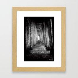Under The pier.... Framed Art Print
