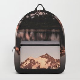 Alpenglow - Mountain Reflection - Nature Photography Backpack