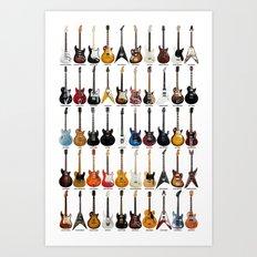 Guitar Legends Art Print