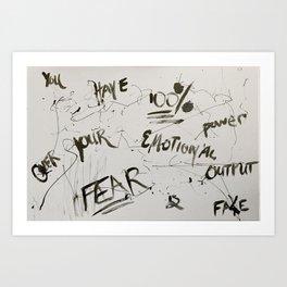 Fear is Fake Art Print