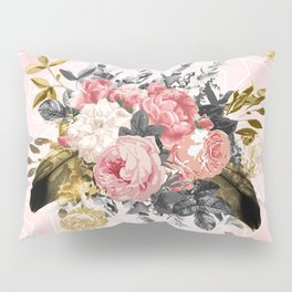 Romantic vintage roses and geometric design Pillow Sham