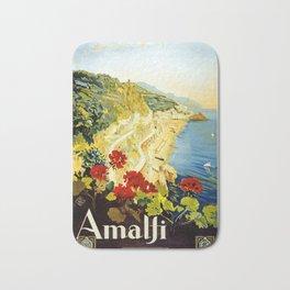 Amalfi Coast, Italy Vintage Travel Poster Bath Mat