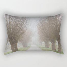 Misty willow lane Rectangular Pillow
