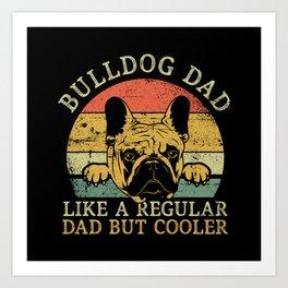 Bulldog Dad Art Print