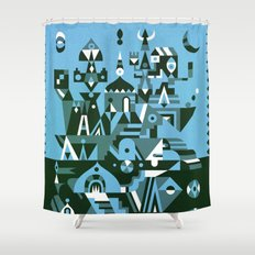 Structura 3 Shower Curtain