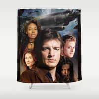 firefly Shower Curtains featuring Firefly by SB Art Productions
