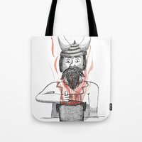 cooking Tote Bags featuring Cooking  by Adrienne S. Price