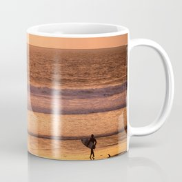 Surfer watching sunset in Southern California Coffee Mug