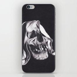 Realism Charcoal Drawing of Reaper Skull iPhone Skin