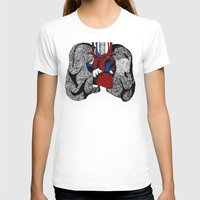 lungs T-shirts featuring Heart&Lungs by Emma J. Hardy