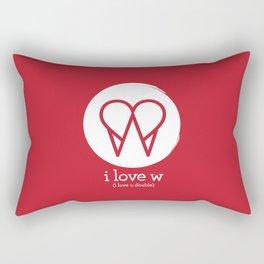 I Love W Rectangular Pillow